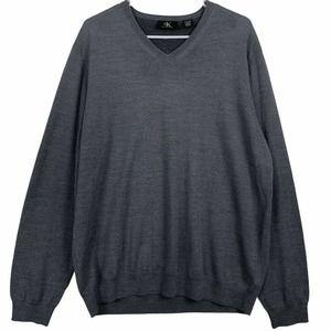 Calvin Klein V Neck Sweater Size XL Merino Wool